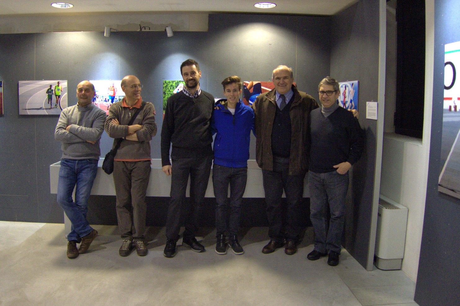 Alcuni autori con Riccardo Bagaini e l'olimpionico Oreste Perri